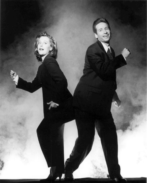 Scully & Mulder having fun